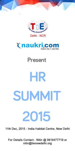TiE/Naukari.com Present HR Summit 2015